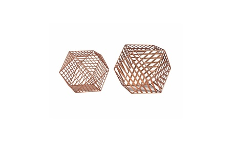 Sterling Home Accessory Copper Metallic Wire Dodecahedron 55774b6f-c8cc-4f4f-ad1b-4986536b4737