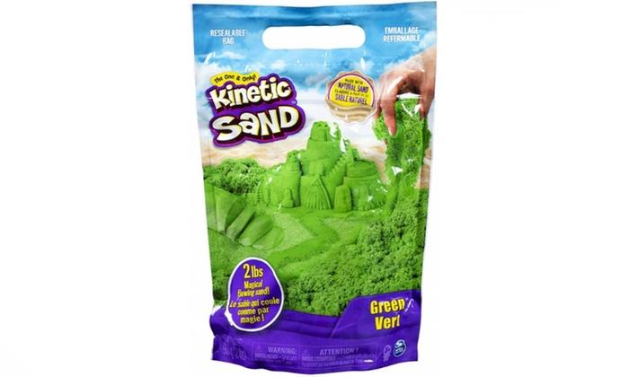2 Pounds Green Kinetic Sand The Original Moldable Sensory Play Sand Green