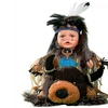"Cherish Crafts 16"" Porcelain Native American Doll 'Atohi'"
