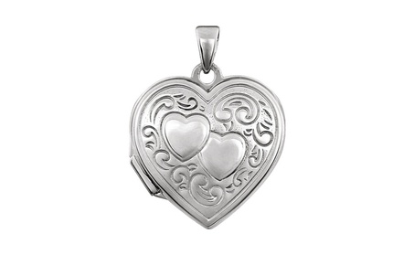 Sterling Silver Double Heart Locket 7768291f-85f7-42bd-a48a-a644db9a0181
