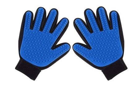 Pet Grooming Glove Efficient Pet Hair Remover Pet Brush Gloves 2-PacK 04458e06-1c7a-4c7f-a8af-14b932a29940