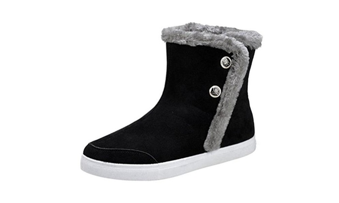 Men Buckle Thickening Rubber Soles Warm Ankle Shoes