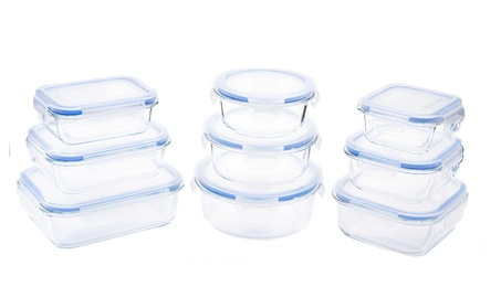 Kinetic GoGreen Glassworks Elements Food Storage Container Set 894e849f-e5c0-4251-8201-963b92f6dd6b
