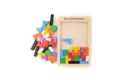 Wooden Colorful Brain Teaser Puzzle Tetris Game Toy 3e5d997e-db72-48d0-863c-109fc27cb1ab