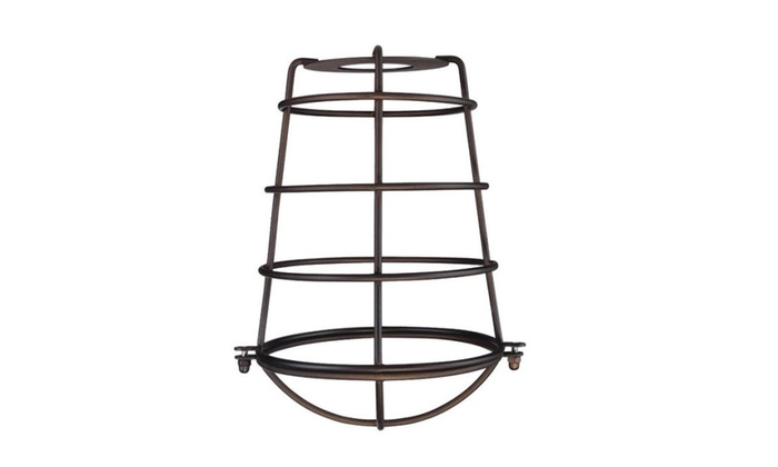Westinghouse 85033 Cylindrical Metal Cage Shade, Oil rubbed bronze fin