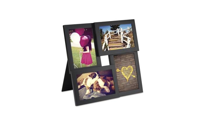 Umbra Pane 4-Opening Desktop Collage Frame, 4x6, Black | Groupon