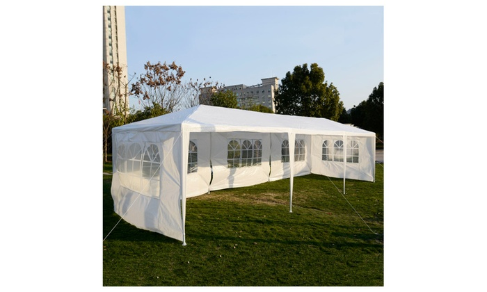 White Outdoor Gazebo Canopy Tent