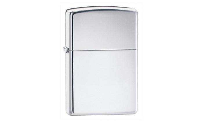 Zippo High Polish Chrome Pocket Lighter 250