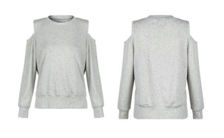 Simple Mind Off the Shoulder Sweatshirt ee813ff7-08b0-4c1e-a6a1-1a8d98eddcb0