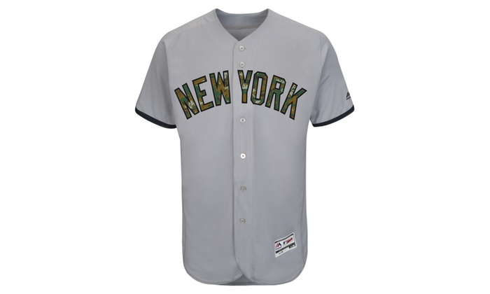 reputable site efa5e df203 New York Yankees Gray 2016 Memorial Day Team Jersey