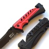 Mtech MT-A801rd Spring Assisted Tactical Rescue Knife With Pocket Clip