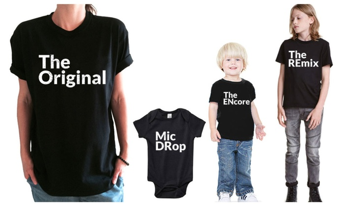 ab053a882 The Original Remix Mic DRop ENcore Family Matching Vacation Shirts ...