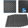 Stalwart Ultimate Comfort Black Foam Flooring - 4 pc