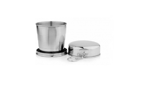 60ml Stainless Steel Folding Cup Traveling Outdoor Camping Mug b600f513-54a3-4d0c-8220-8575e098876b