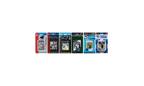 NFL Carolina Panthers 6 Different Licensed Trading Card Team Sets de403a45-b497-4ff4-a35a-4c52a89ee00e