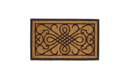 Scrolls Design Rectangle Doormat Entry Mat 94c044e8-b536-40df-ac06-5f684230244a