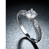 Classic 3.00 CTTW Solitaire Stone Engagement Ring in 18K White Gold Plating