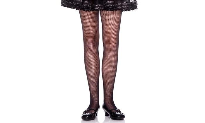 81ff27aa3f8a9 Music Legs 290-BLACK-XL Girls Fishnet Pantyhose Black - Extra Large Black  Single