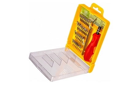 PuTwo 32 Pieces Drill Bit Screwdriver Bit Set with Hard Storage Case 18a7cd01-3d16-44fa-a512-66afcc7f021b