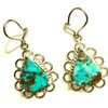Natural Persian Turquoise Tear Drop & Sterling Silver Earring HOliday
