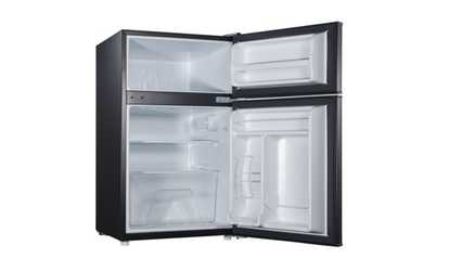 Shop Groupon Compact Design Double Door Black Refrigerator