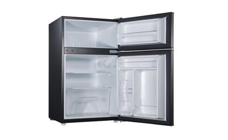Compact Design Double Door Black Refrigerator 1b7dc6e8-bf9c-42d2-ac25-7f7c0c42db98