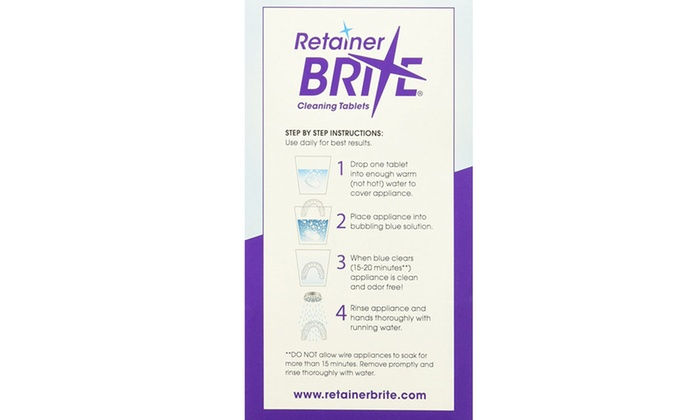 Up To 76 Off On Retainer Brite 288 Tablets 9 Groupon Goods