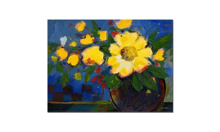 Sheila Golden Fiesta Canvas Art