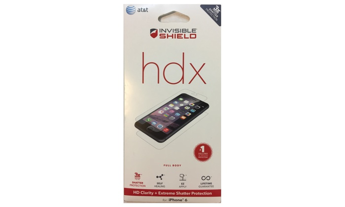 online retailer 8d3ea 37eeb Zagg Invisibleshield Hdx - Hd Clarity + iphone 6/6s