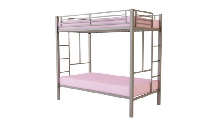 Dorel Your Zone Twin Over Twin Metal Bunk Bed Silver Groupon