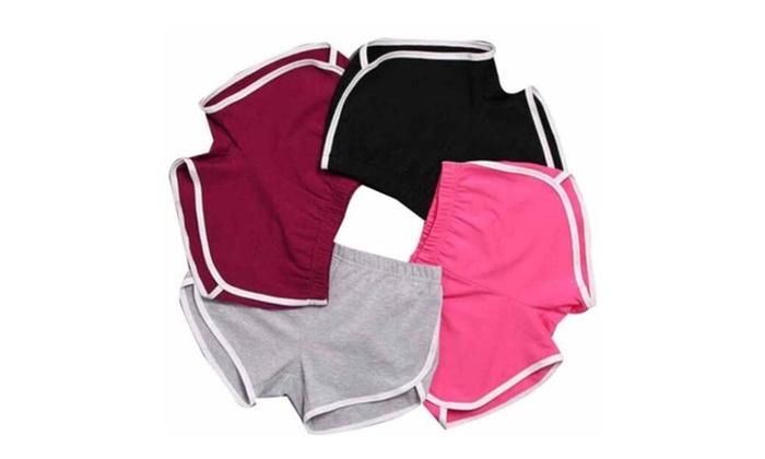 Women Sports Shorts Gym Workout Waistband Skinny Short