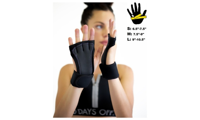 Padded grip wrist support workout gloves