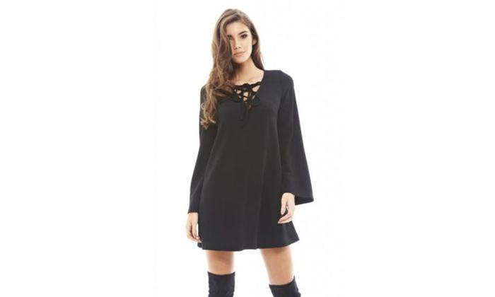 AX Paris Lace Up Swing   Dress