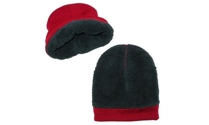 cd44b0b38d036 Polar Extreme Men s Thermal Winter Hat Fold Over Fleece Lined Cap