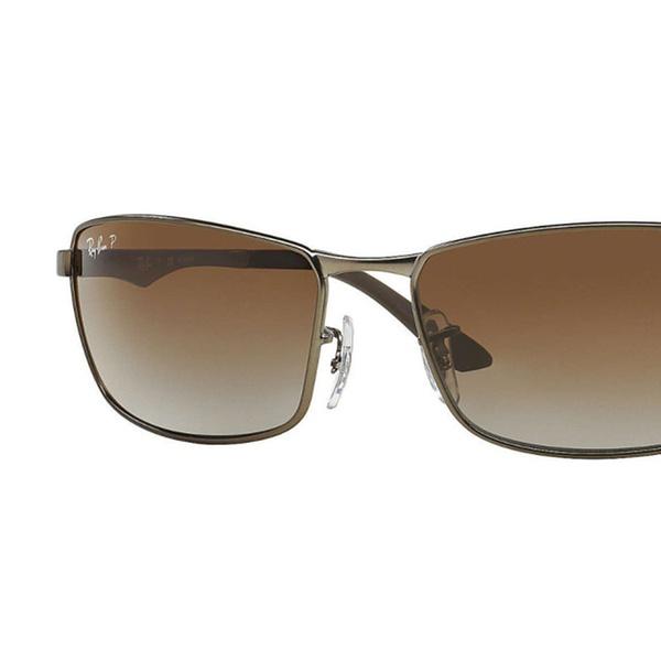 4b29943e15eb4 Ray-Ban RB3498 Sunglasses (Gunmetal Polarized Brown Gradient)