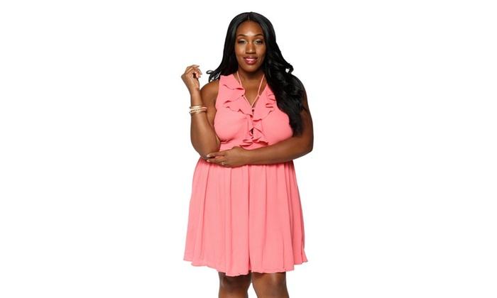 c6f23ab7188 Xehar Women s Plus Size Sexy Sleeveless Short Mini Midi Summer Dress ...