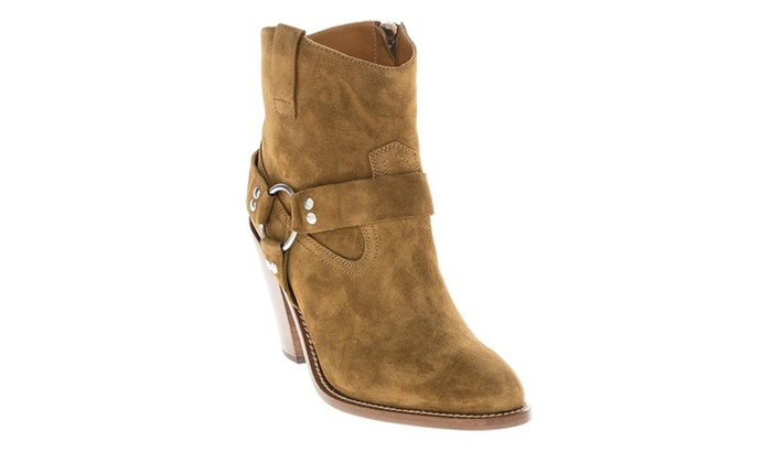 fca527f7 YSL Yves Saint Laurent Women's Curtis 80' Harness Western Ankle Boot ...