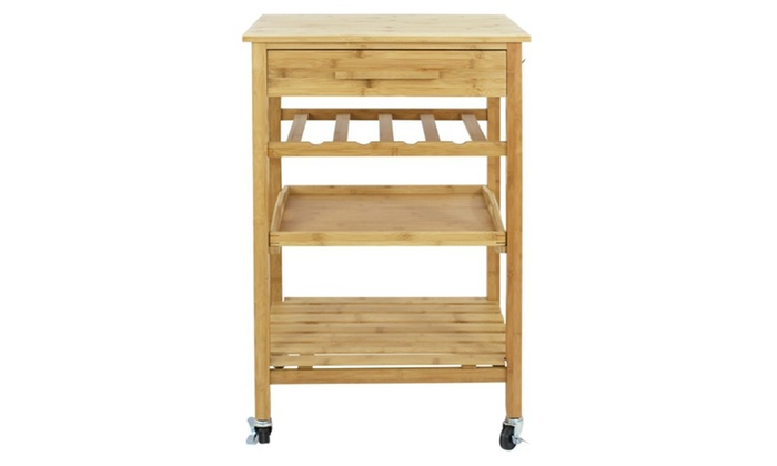 Up To 27 Off On Rolling Kitchen Island Cart W Groupon Goods