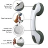 Evelots Set of 2 Bath & Shower Handles, Suction Cup Support Balance Grab Bar