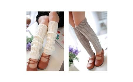 Lady Winter Knit Long Socks Knitted Crochet Warm Socks c716ab01-6122-4a9c-aeaf-18c7a22f5227