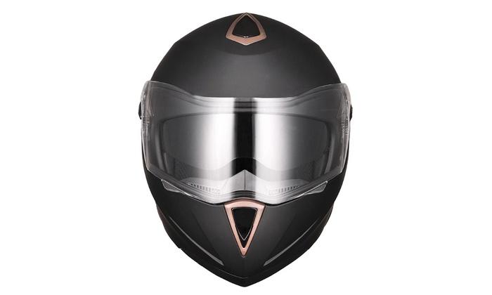 DOT Flip up Modular Full Face Motorcycle Helmet Dual Visor Motocross Size Opt
