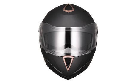 Motorcycle Helmet DOT Flip up Modular Full Face Dual Visor Motocross Size Opt