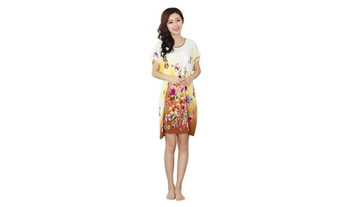 Soyoo Women's Nightdress with waistband Cotton