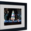 Yale Gurney 'NYPD In Blue Neon' Matted Black Framed Art