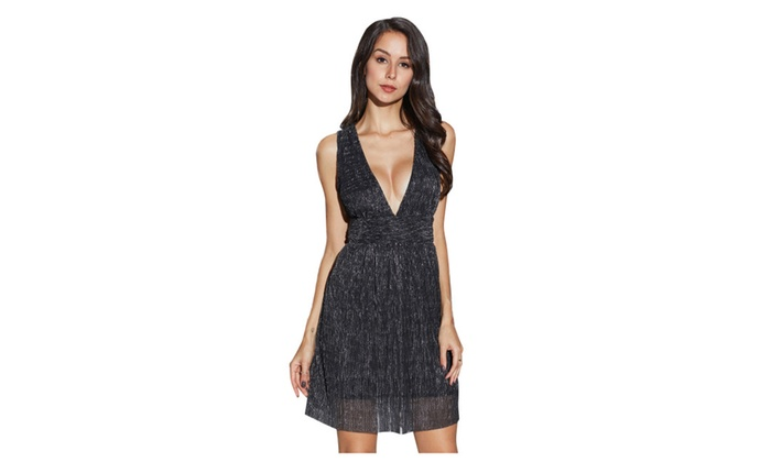 Up To 53% Off on Women\'s Strappy Bodycon Deep ... | Groupon Goods
