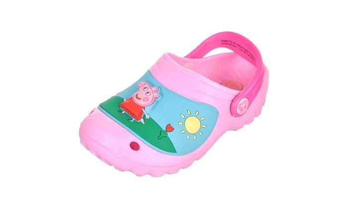 a271ab37a13 Peppa Pig Light Up Sunshine Scene Crocs Toddler size 5 Sandal Clogs ...