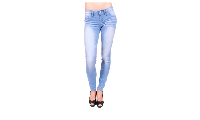 YMI Women Push Up Skinny Jeans with Fake Front PocketP617196C213