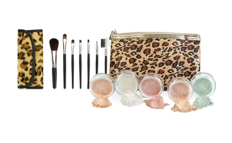 Brush bag w/ makeup bare face sheer powder matte foundation - deep tan b9ba9e35-5e5c-4d36-a020-119a5f73146c