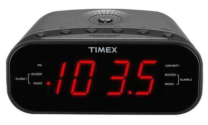 timex t231gy am fm dual alarm clock radio manufacturer refurbished groupon. Black Bedroom Furniture Sets. Home Design Ideas