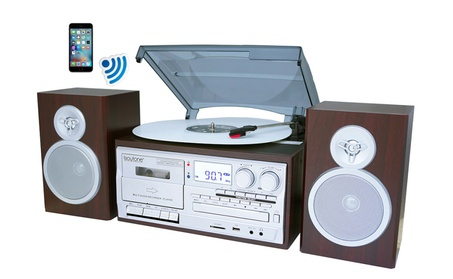 Boytone BT-28SPS, Bluetooth Classic Style Record Player Turntable with 775c00a1-74c7-4f90-bac0-6b70efadda62